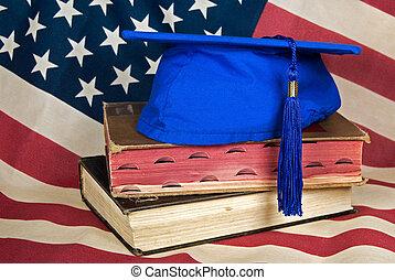 amerikaan, dag, afgestudeerd