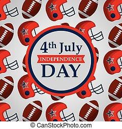 amerikaan, dag, onafhankelijkheid