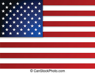 amerikaan, flag., vector, illustration.