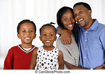 amerikaan, gezin, afrikaan