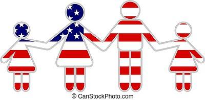 amerikaan, gezin