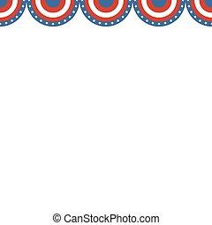 amerikaan, grens, vlag, colors.
