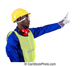 amerikaan, industrieele werker, afrikaan