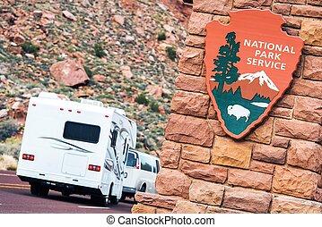 amerikaan, nationale parken
