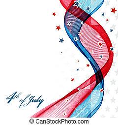 amerikaan onafhankelijkheid dag, vaderlandslievend, achtergrond