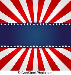 amerikaan, ontwerp, vlag