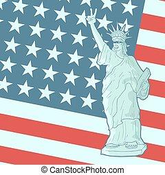 amerikaan, patriot, vlag