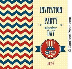 amerikaan, uitnodiging