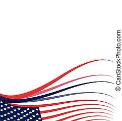 amerikaan, usa dundoek, achtergrond