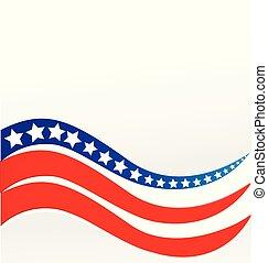 amerikaan, vector, ontwerp, vlag