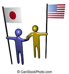 amerikaan, vergadering, japanner