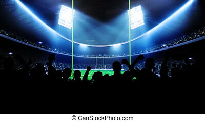 amerikaan voetbal, arena, stadium.