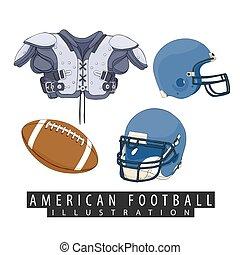 amerikaan voetbal, uitrusting