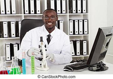 amerikaan, wetenschapper, medisch, afrikaan