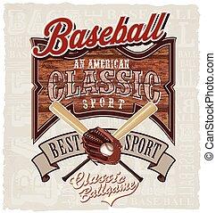 amerikaans honkbal, best, classieke