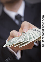 amerikaanse dollars, holdingshanden