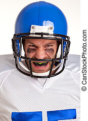amerikaanse football speler, uitsnijden