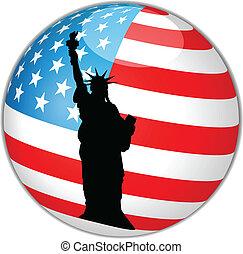 amerikaanse vlag, globe