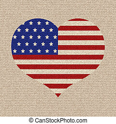 amerikaanse vlag, illustratie