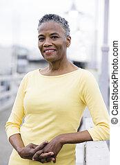amerikaanse vrouw, afrikaan