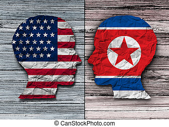 amerikai, és, north korean, gyűlés
