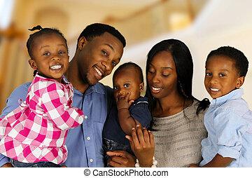 amerikai, család, afrikai