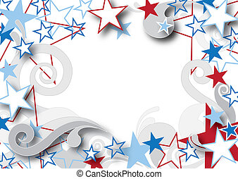 amerikai, csillaggal díszít