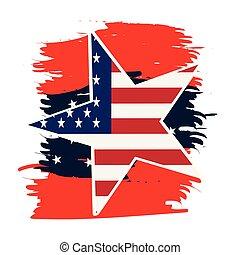 amerikai, embléma, elszigetelt, üres
