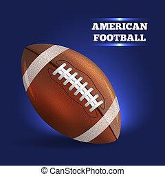 amerikai, football., vektor