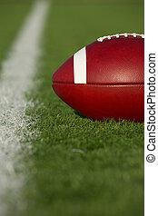 amerikai futball, közel, a, udvar megtölt