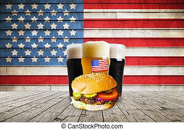 amerikai, hajó, sör