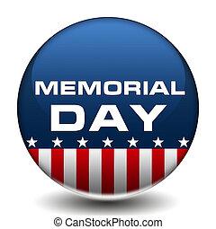 amerikai, jelvény, háborús hősök emléknapja