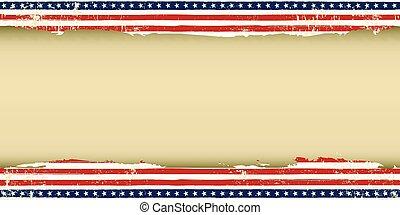 amerikai, köszönés kártya, koszos