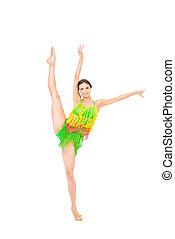 amerikai, latin, táncol