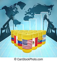 amerikai, olaj, erő