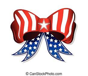 amerikai, patrióta, íj