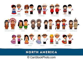 amerikaiak, alatt, nemzeti, clothes.