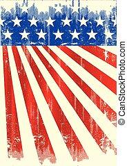 amerikan, årgång, flagga banér