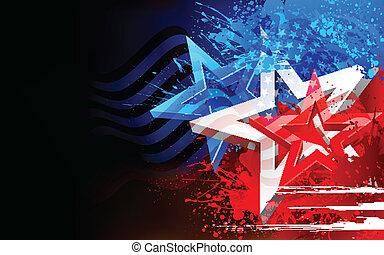 amerikan, abstrakt, flagga, bakgrund