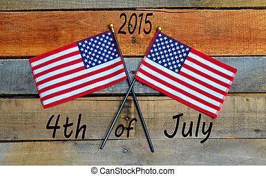 amerikan flagga, -, 4 av juli