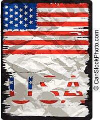 amerikan flagga, affisch, design