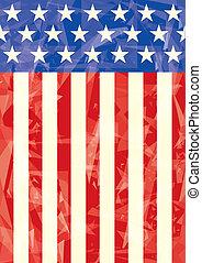 amerikan flagga, iskall