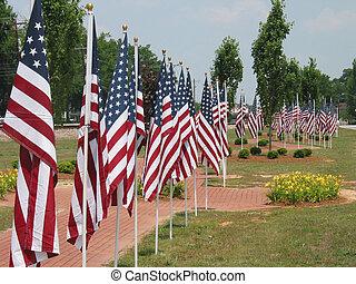amerikan flaggar