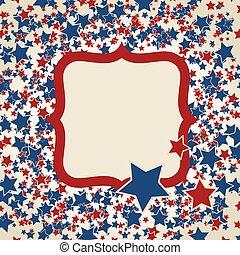 amerikan, fosterländsk, bakgrund, ram