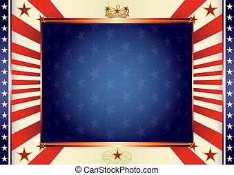 amerikan, fosterländsk, bakgrund