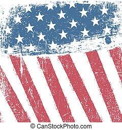 amerikan, fosterländsk, grunge, bakgrund