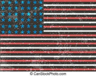 amerikan, grunge, flag., amerikan, grunge, flagga, för, a, bakgrund, av, a, poster.