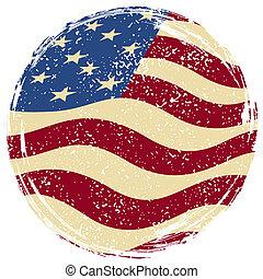 amerikan, grunge, flag.