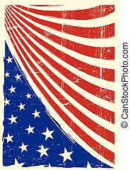 amerikan, grunge, flagga, trevlig