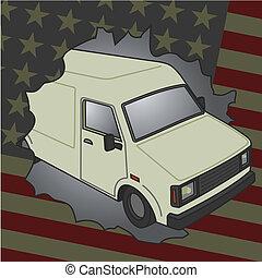 amerikan, skåpbil